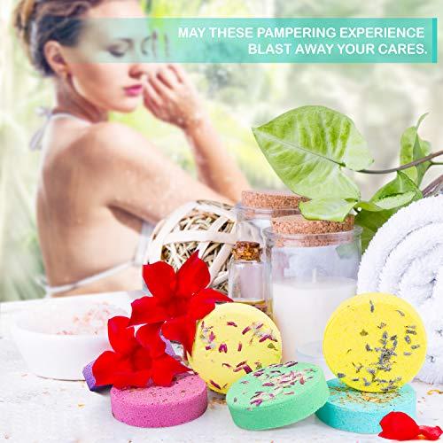 Peradix Bombes de Douche Parfumées,8 de Coffrets Cadeaux pour le Bain de Vapeurs Bain d\'aromathérapie -le Aromathérapie Soulagement du Stress et Se détendre pour Amies,Femme,pour Le Bain et Spa