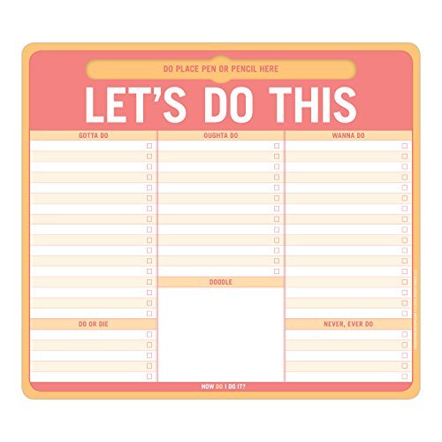 Knock Knock Lets Do This Paper Mousepad with Pen Holder (12613)