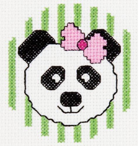 Bucilla Mini Counted Cross Stitch Kit, 45425 Panda