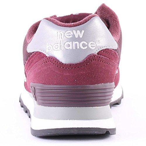 New Balance M574 D (13H), Baskets Basses Homme Bordeaux