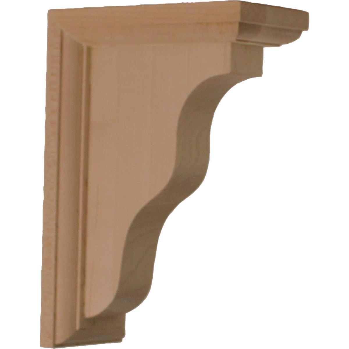 Ekena Millwork BKT02X05X07HARW-CASE-4 2 1/4''W x 5''D x 7''H Hamilton Traditional Bracket, Rubberwood (4-Pack),