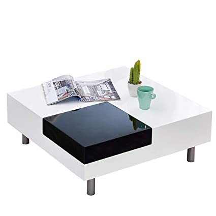 Wondrous Boju White High Gloss Coffee Table Low For Living Room Large Gamerscity Chair Design For Home Gamerscityorg