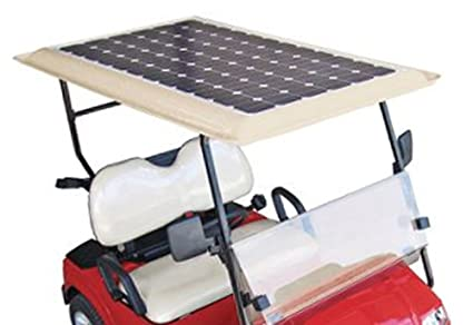 Tektrum Universal 36v Solar Panel Battery Charger Kit for Golf Cart -  Charge While Driving, Save Electricity Bill, Extend Battery Life