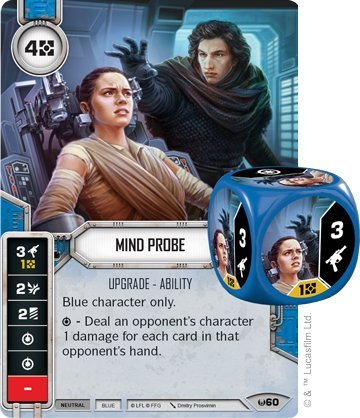 - Star Wars Destiny Mind Probe Upgrade Ability Card & Dice (1)