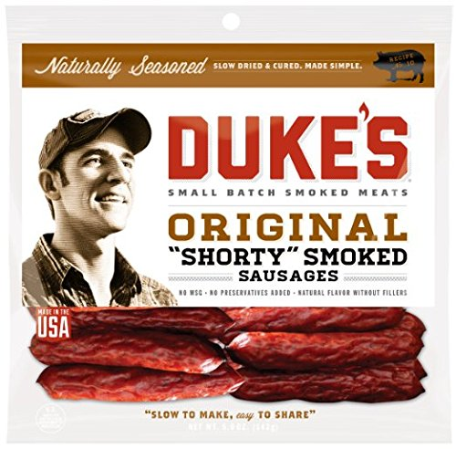 Dukes Original Shorty Smoked Sausages 16 oz (1 Bag)