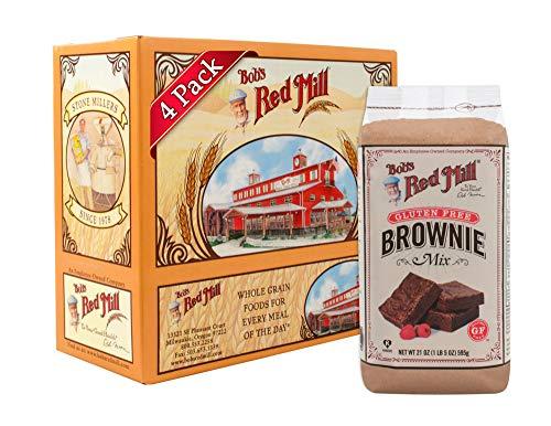 Bob's Red Mill Gluten Free Brownie Mix, 21 Oz (4 Pack)