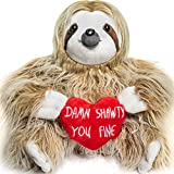 Toys : Light Autumn Valentines Day Stuffed Animals - Girlfriend Gifts - Shawty You Fine - Valentine Sloth Bear for Her - Cute Funny Vday Gifts for Boyfriend