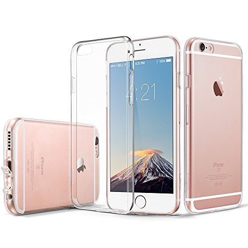 Coque iPhone 6s Silicone, ESR iPhone 6 / 6 s Coque Transparente Silicone Gel TPU Souple, Housse Etui de Protection Bumper Premium [Anti Choc] [Ultra Fine] [Ultra Léger] [Liquid Crystal] pour Apple iPh