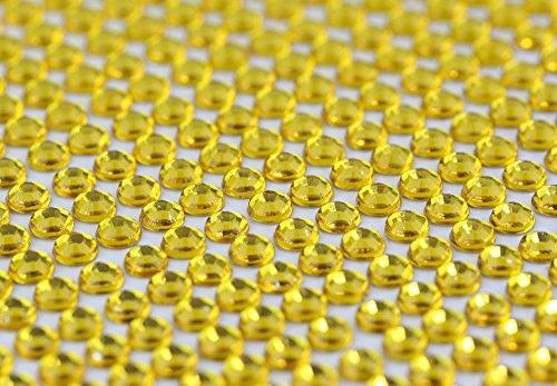 CraftbuddyUS 1500 Bulk Sheet of 5mm Self Adhesive Gold Diamante Stick on Rhinestone Gems ()