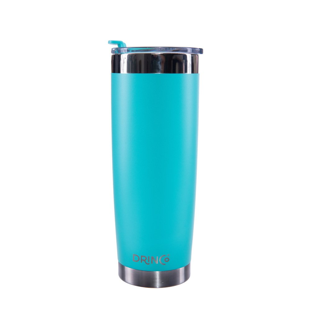 Drinco - Stainless Steel Tumbler | Double Walled Vacuum Insulated Mug With Spill Proof Lid For Hot & Cold Drinks | Aqua | Perfect for Hiking, Camping & Traveling | BPA Free | 20oz