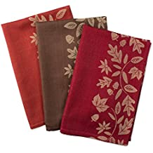 """DII Cotton Thanksgiving Holiday Dish Towels,  18x28"""" Set of 2, Decorative Oversized Jacquard Kitchen Towels, Perfect Home and Kitchen Gift-Harvest Vine"""