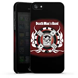 Carcasa Design Funda para Apple iPhone 5 PremiumCase white - Death Man's Hand