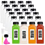 24 Pack Empty Plastic Juice Bottles Food Grade