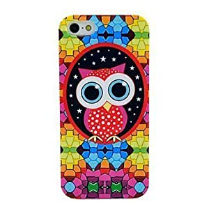 Cartoon Owl Pattern Soft Tpu Imd Case for iphone 4 4s