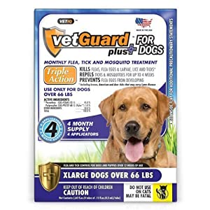 VetGuard Plus For Dogs XLarge over 66 LBS 4 Month Supply 59