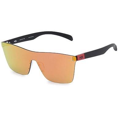 547dbae93 Óculos de Sol Hb Floyd Mask Matte Black Dark Red I Red Chrome ...