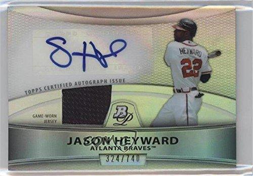 (Jason Heyward #324/740 (Baseball Card) 2010 Bowman Platinum - Autographed Relic Refractor #PAR-JH)