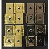 Oriental Furniture Shoji Screen Hinges - Gold (Set of 4)