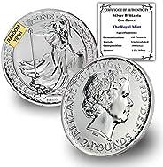 1997 UK - Present (Random Year) 1 oz Silver Britannia Coin Brilliant Uncirculated £2 w/Certificate of Authenti