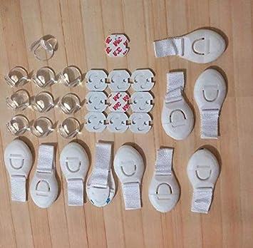 Babysicherheitsausr/üstung 10 Pack Tischecke Antikollisionskugel 10 Pack Sicherheitsschloss 10 Pack Netzsteckerabdeckung