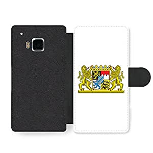 Bavarian Flag Bavaria Coat Of Arms Flagge Bayern Faux Leather case for HTC One M9
