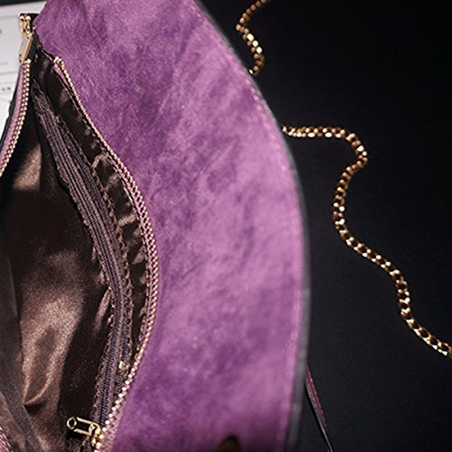 Nuevos Bolsos De Cuero Del Sobre Color Sólido Bolsos De Cadena De Las Señoras Carpeta De Cuero Black