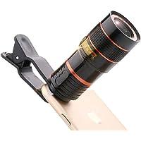 Kmnic 12X Universal Optical Zoom Lens Telescope Clip-on Camera Lens