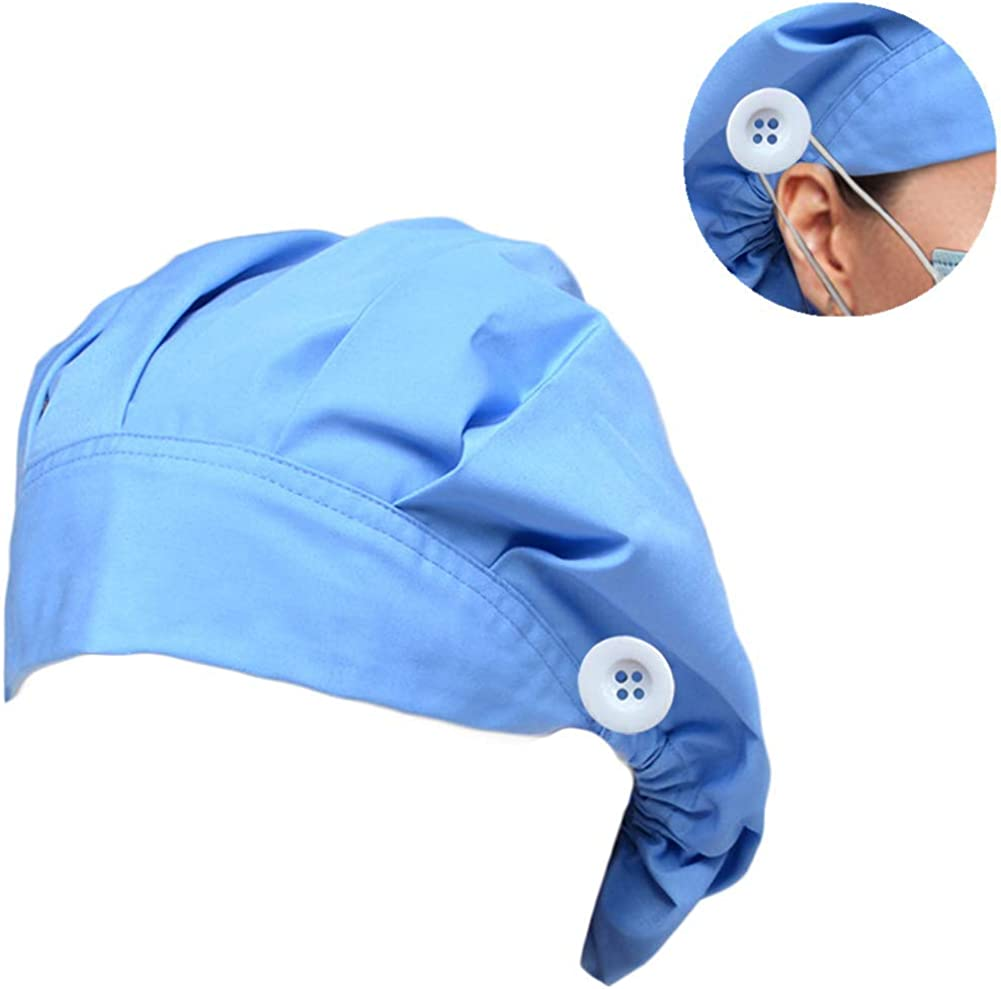 Working Cap with Sweatband Adjustable Elastic Band in The Back Cute Printed Hats Suitable for Kitchen Beauty Pet Store