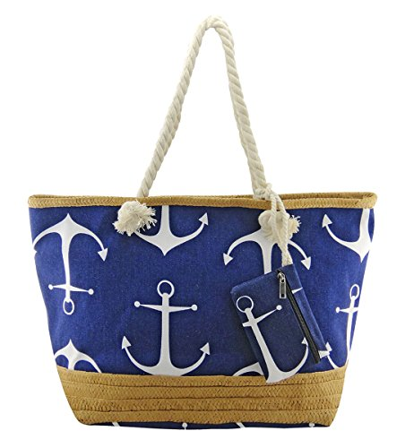Bag Pink Blue Bag Pineapple Bags Flamingo Holiday Beach Stripe Beach Red Star Canvas Xl LilyRosa Anchor Floral Blue Pool w8HzH