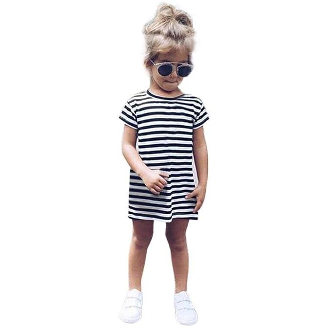 K-youth Vestidos para niña, Linda Verano Vestidos Niñas Ceremonia Rayas Ropa Tutú Vestidos Infantil Fiesta Niñas Vestido de Princesa 2018 Ofertas para ...