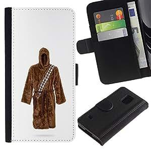 KLONGSHOP / Tirón de la caja Cartera de cuero con ranuras para tarjetas - Wars Sci Fi Movie Costume Character - Samsung Galaxy S5 V SM-G900