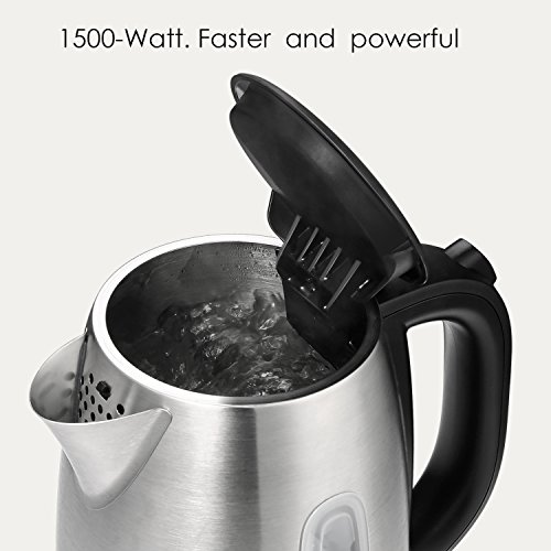 Electric Kettle 1.7L Stainless Steel Tea Kettle with British Strix Control, 1500W Fast Boiling Water Kettle, Hot Water Kettle Electric with Auto Shut-Off, BPA-Free By Aicok by AICOK (Image #2)