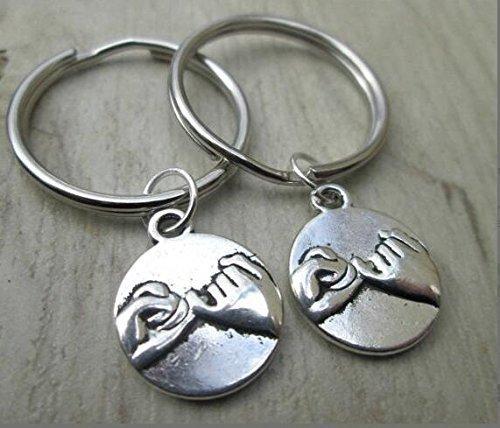 Pinky Promise Keychains, Pinky Swear Keychain, Keychain, Best friends, Pinky Promise Key Chains