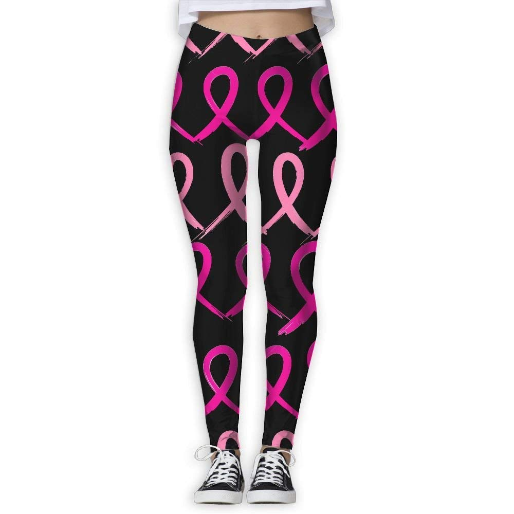 Breast Cancer Pink Womens Activewear High-Waist Tights Leggings Yoga Pants