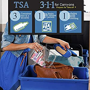 3pcs TSA-Approved Clear Travel Toiletry Bag With Handle Strap, ANRUI Airline Kit 3-1-1 Clear Liquids Toiletries…