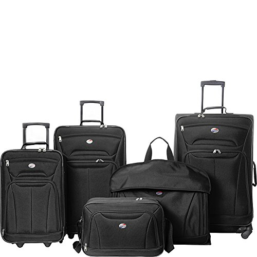 American Tourister Wakefield 5 Piece Luggage Set (Black)