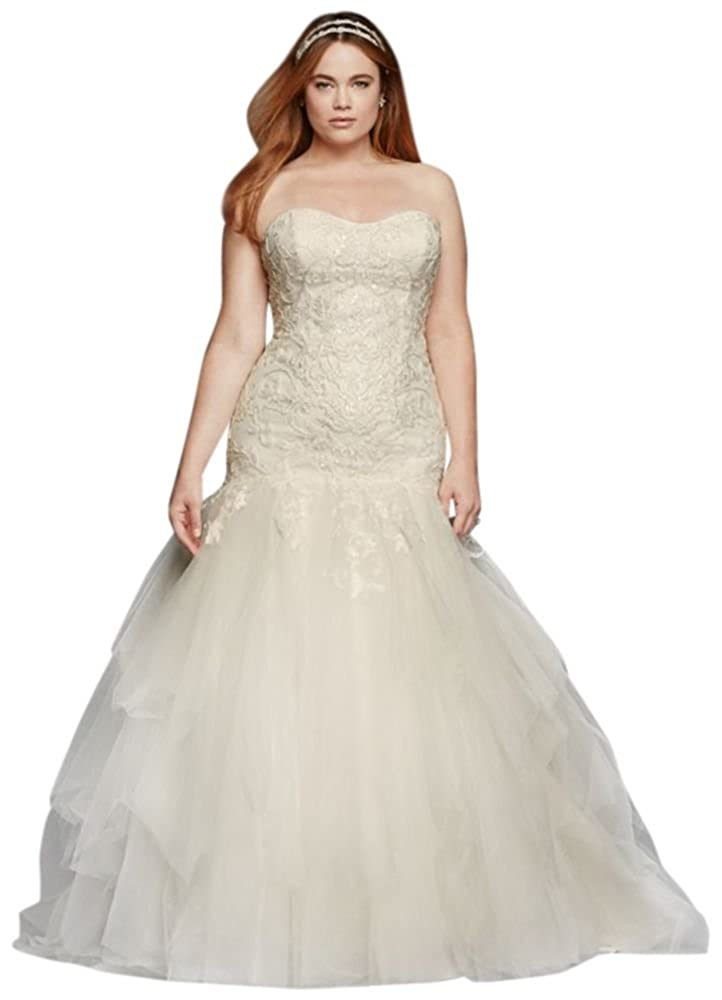 Strapless Sweetheart Tulle Plus Size Wedding Dress Style 8cwg737