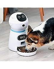 XUANWEI Comedouro automático para animais de estimação com cronometragem e máquina de alimentação inteligente quantitativa para cães com máquina de alimentação para gatos de aço inoxidável de voz