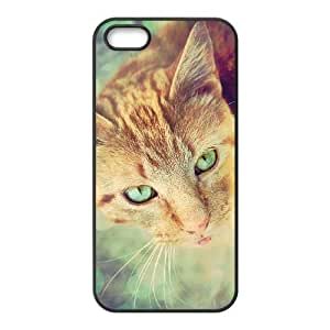 iPhone 5 5s Black Cell Phone Case Ginger Cat STY792075 Cell Phone Case For Guys