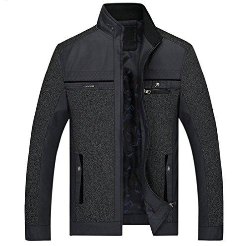 LOVECC-Men-Jacket-Casual-Peacoat-Lightweight-Cotton-Outdoors-Windbreaker