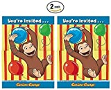 Curious George 8ct Party Invitations - 2 Pack