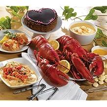 Lobster Gram PLZGR2Q LOBSTERPALOOZA GRAM DINNER FOR TWO WITH 1.25 LB LOBSTERS