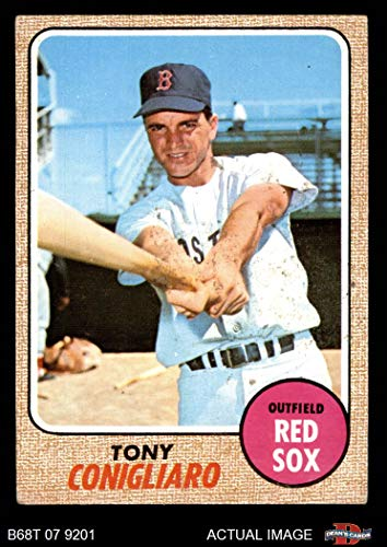 1968 Topps # 140 Tony Conigliaro Boston Red Sox (Baseball Card) Dean's Cards 3 - VG Red Sox