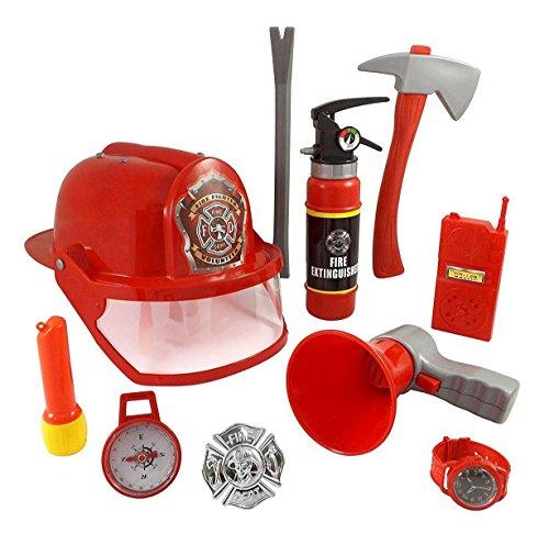 CHIMAERA Little Firefighter Helmet Gear Pretend Play Costume 10-Piece