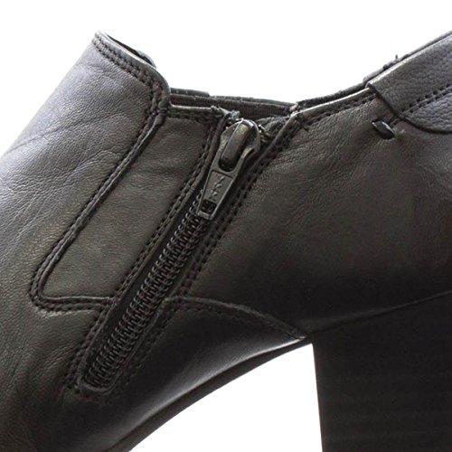 Mujer Plus Piel Comfort Para Vestir Zapatos De Negro Aunnwzxdq OOxT5vrqw