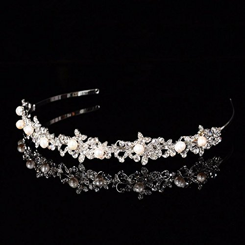 headband handmade baroque rhinestones wedding Bridal pearls tiaras headdress crown qFHgwT