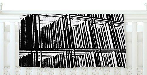 KESS InHouse Trebam Celik Black Lines Fleece Baby Blanket 40 x 30 [並行輸入品]   B077Z37CYX