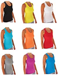 Tank Tops For Women, Ribbed Racerback Tank Top Assorted Colors - 10 Pack …