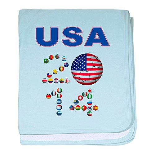 CafePress - USA Soccer - Baby Blanket, Super Soft Newborn (Usa Brazil World Cup)