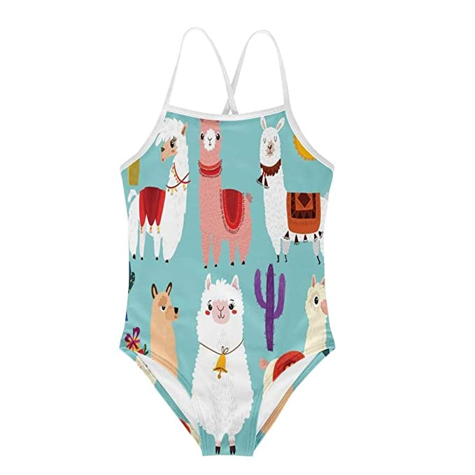 Amazon.com: KiuLoam Llama Alpaca - Traje de baño de una ...